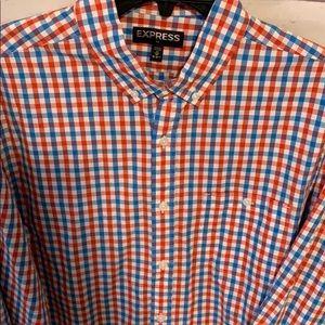 Men's express button up shirt size medium